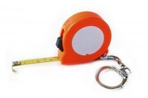 Series L138S - 3ft / 1m Steel Keychain Tape (Orange)