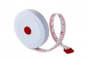 "SR1W - Flexible Pocket Tape Measure - 60"" / 1.5m (White)"