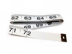 "TR-16 - 72"" Tailor's Tape Measure (White)"