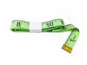 "TR-16LG - 60"" Tailor's Tape Measure (Light Green)"