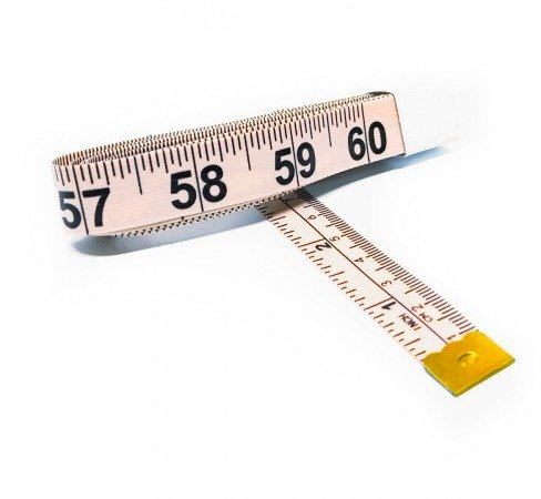 """1 MEASURING TAILOR TAPE WHITE //COLOR 3//4/"""" WIDE 60/"""" LONG"""