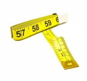 "TR-16Y - 60"" Tailor's Tape Measure (Yellow)"
