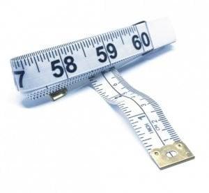 "TR-16W - 60"" Tailor's Tape Measure (White)"
