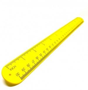 "SB12 - 12"" Silicone Tape Measure Snap Bracelet (Yellow)"