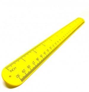 "SB12 - 12"" Silicone Tape Measure Snap Bracelet (Yellow)"