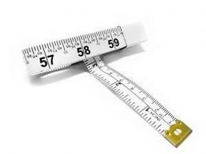 "TR-16F - 60"" Fractional Tailor's Tape Measure (White)"